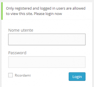 Private-Only Login page